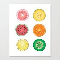 Colorful Collages Fruit … Canvas Print