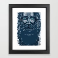 Old Man Framed Art Print