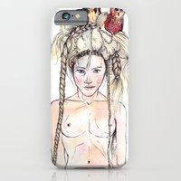 iPhone & iPod Case featuring Owls in the head by AlbaQuilez