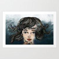 She Makes The Sound The … Art Print