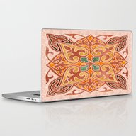Brown Mandala 02 Laptop & iPad Skin