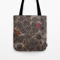 Flower Pattern Tote Bag