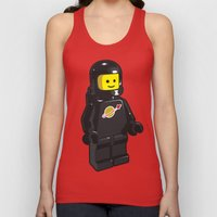 Vintage Lego Black Space… Unisex Tank Top