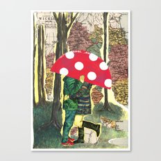 The Lesser Spotted Four Legged Toadstool Canvas Print
