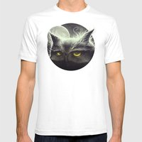 Owl & The Moon Mens Fitted Tee White SMALL