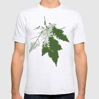 Leaf Mens Fitted Tee Ash Grey SMALL