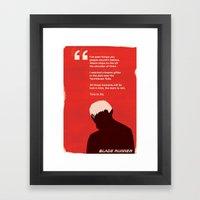 BLADE RUNNER TEARS IN RAIN Framed Art Print
