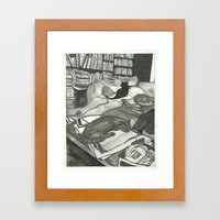 Edward Gorey Portrait Framed Art Print