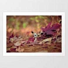 Hidden (Little Deer) Art Print