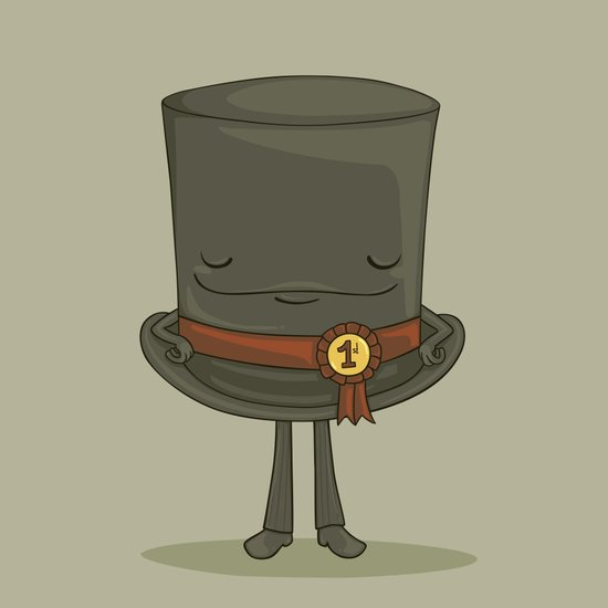 Top Hat Art Print