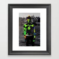 Boy Urban Framed Art Print