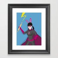 Fantastic Fighting Femal… Framed Art Print