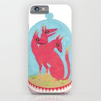 iPhone Cases featuring Don't Keep Your Hellbeasts in Glass Jars  by Hannah Lee Stockdale