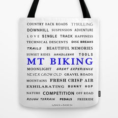 Mountain Biking - Blue Tote Bag