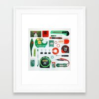 Junk Drawer: Complementary Framed Art Print