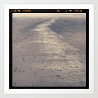 Art Print featuring seaside sand by sandra lee russell