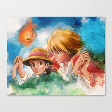 Sophie and Howl from Howl's Moving Castle Tra-Digital Painting Canvas Print