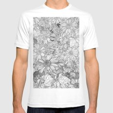 nature Spirit White Mens Fitted Tee SMALL