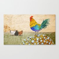 The Cockerel And The Jew… Canvas Print