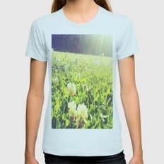 Field of Dreams Womens Fitted Tee Light Blue SMALL