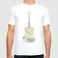 Let Your Guitar Sing Mens Fitted Tee White SMALL