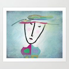 matching hat Art Print
