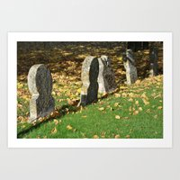 Autumnal Gravestones Art Print