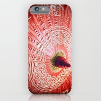 Red Silk Chinese umbrella iPhone 6 Slim Case