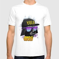 Darth Vader Swag Mens Fitted Tee White SMALL