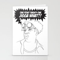 Black To The Future Stationery Cards