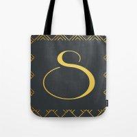 Art Deco Monogram - S Tote Bag