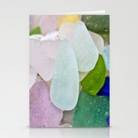 Sea Glass Stationery Cards