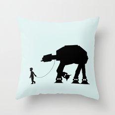 A Boy and His AT-AT Throw Pillow