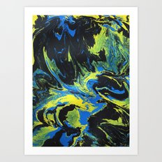 Gravity Painting 2 Art Print
