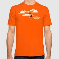 Early Bird Mens Fitted Tee Orange SMALL