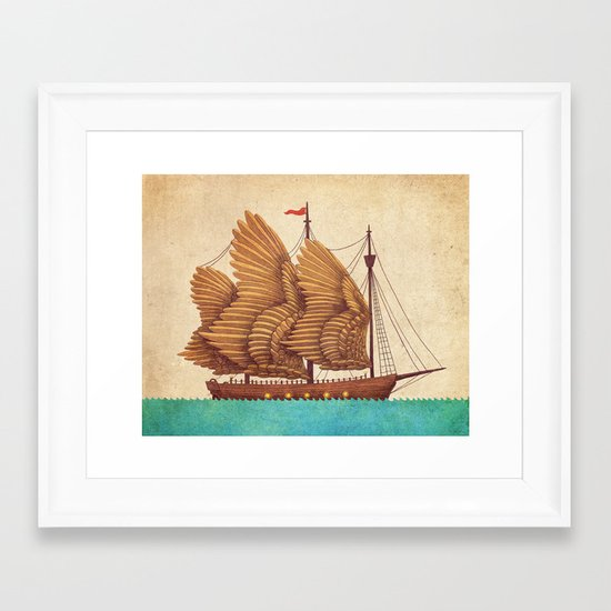 Winged Odyssey Framed Art Print