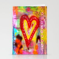 Candy Heart Stationery Cards