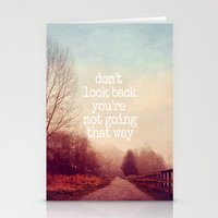 dont look back Stationery Cards