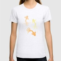 Goldfish pattern Womens Fitted Tee Ash Grey SMALL