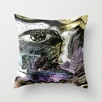 Henna Man Throw Pillow