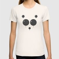 Panda Balloon  Womens Fitted Tee Natural SMALL