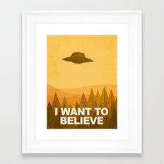 i want to believe Framed Art Print