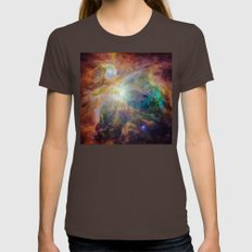 View of Orion Nebula Reveals Womens Fitted Tee Brown SMALL