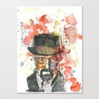Walter White From Breaki… Canvas Print