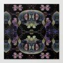 Symmetreats - Floral Gravity Canvas Print