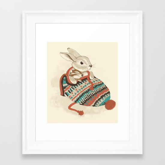 cozy chipmunk Framed Art Print