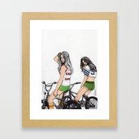 SKATER GIRLS - PART 2 - … Framed Art Print
