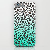 TEAL LEOPARD iPhone 6 Slim Case