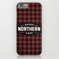 iPhone & iPod Case featuring Great Northern Lake by Branding 10,000 Lakes