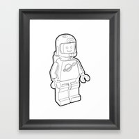 Vintage Lego Spaceman Wi… Framed Art Print